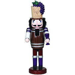 Wine Barrel Nutcracker Decoration