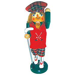 Golfer Nutcracker Decoration