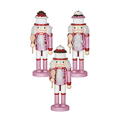 Cupcake Nutcracker Decoration Set Of 3