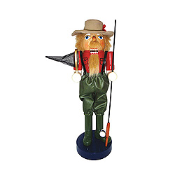 Fly Fisherman Nutcracker Decoration