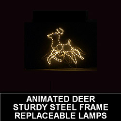 Animated Deer LED Lighted Outdoor Christmas Decoration