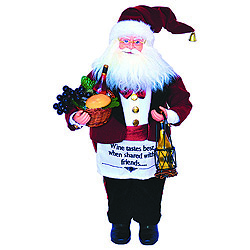 18 Inch Wine Steward Santa Decoration