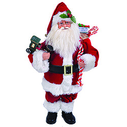 15 Inch Santa Claus With Train Decoration