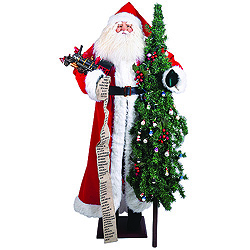 60 Inch Santa With Christmas Tree And Train Decoration