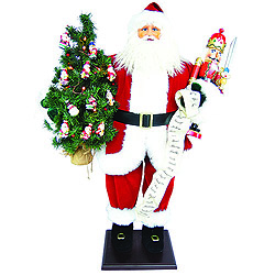 36 Inch Traditional Santa Claus Decoration With Nutcracker