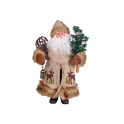 15 Inch Moose In The Bush Santa Claus Decoration