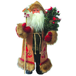 15 Inch Cardinal Santa Claus Decoration