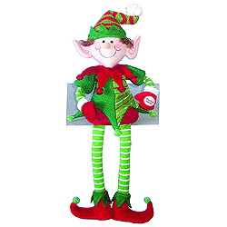 18 Inch Musical Seated Elf