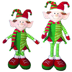 20 Inch Musical Elf With Extendable Legs