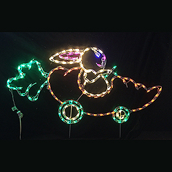 Carrot Car With Bunny Driver LED Outdoor Lighted Easter Decoration