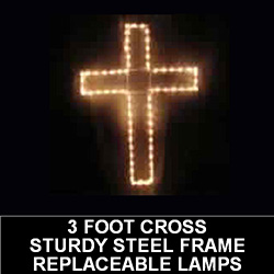 Cross LED Lighted Outdoor Easter Decoration