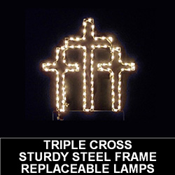 Triple Cross LED Lighted Outdoor Easter Decoration