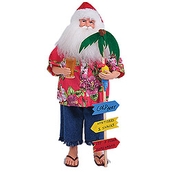 18 Inch Carribean Santa Claus Table Top Decoration