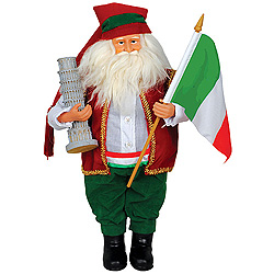 15 Inch Italian Santa Claus Table Top Decoration
