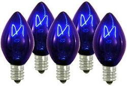 100 C7 Blue Transparent Replacement Bulbs