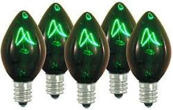 100 C7 Green Transparent Replacement Bulbs