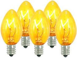 100 C7 Yellow Transparent Replacement Bulbs