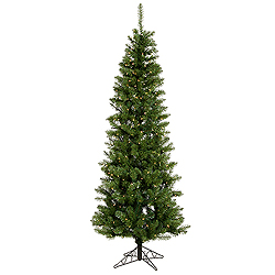 6.5 Foot Salem Pencil Pine Artificial Christmas Tree 200 LED Warm White Lights