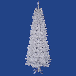 6.5 Foot White Salem Pencil Pine Artificial Christmas Tree Unlit