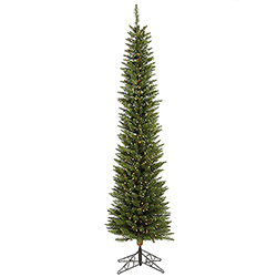 6.5 Foot Durham Pole Artificial Christmas Tree 200 DuraLit Clear Lights