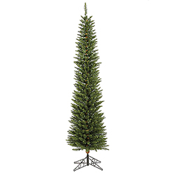 7.5 Foot Durham Pole Artificial Christmas Tree 250 DuraLit LED M5 Italian Multi Color Mini Lights