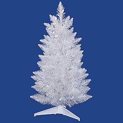 5 Foot Sparkle White Pencil Spruce Artificial Christmas Tree Unlit