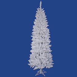 6 Foot Sparkle White Pencil Spruce Artificial Christmas Tree Unlit