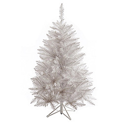 4.5 Foot Sparkle White Spruce Artificial Christmas Tree Unlit