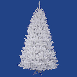 7.5 Foot Sparkle White Spruce Artificial Christmas Tree 750 DuraLit Clear Lights
