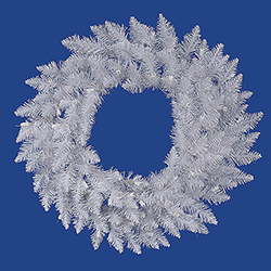 36 Inch Sparkle White Spruce Artificial Christmas Wreath Unlit