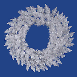 60 Inch Sparkle White Spruce Wreath