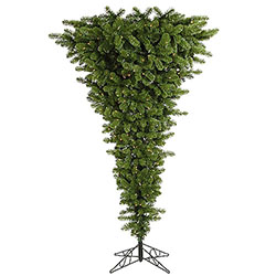 9 Foot Green Upside Down Artificial Christmas Tree 1000 DuraLit Clear Lights