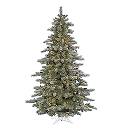 5.5 Foot Frosted Sartell Artificial Christmas Tree - 300 Dura Lit Multi Lights