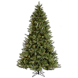 7.5 Foot Albany Spruce Artificial Christmas Tree 600 DuraLit Clear Lights