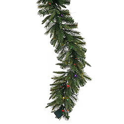 50 Foot Cashmere Garland Artificial Christmas Tree 500 LED Multi Lights
