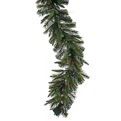 9 Foot Cashmere Garland 150 DuraLit Multi Lights