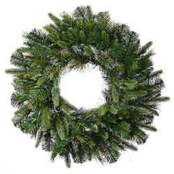 24 Inch Cashmere Artificial Christmas Wreath Unlit