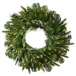 72 Inch Cashmere Wreath 400 LED Warm White Lights