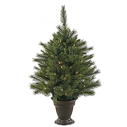 3.5 Foot Cashmere Pine Artificial Christmas Tree 50 LED Warm White Lights