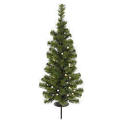 4 Foot Potted Artificial Christmas Tree 100 Solar LED Warm White Lights