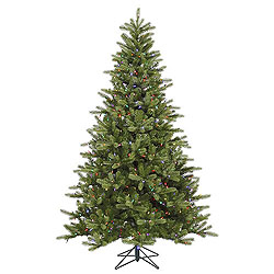 5.5 Foot King Spruce Artificial Christmas Tree 250 LED Multi Lights