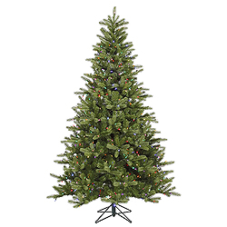 7.5 Foot King Spruce Artificial Christmas Tree 700 DuraLit Multi Lights
