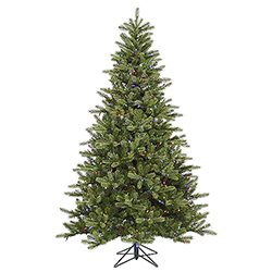 9 Foot King Spruce Artificial Christmas Tree 850 LED Multi Lights
