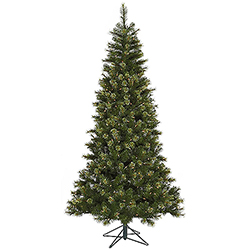 10 Foot Slim Jack Pine Artificial Christmas Tree 850 DuraLit Clear Lights