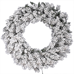42 Inch Flocked Snow Ridge Wreath