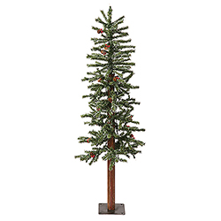 4 Foot Frosted Alpine Berry Artificial Christmas Tree 150 DuraLit Clear Lights