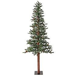 6 Foot Frosted Alpine Berry Artificial Christmas Tree 250 LED Warm White Lights