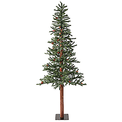 7 Foot Frosted Alpine Berry Artificial Christmas Tree 300 LED Warm White Lights