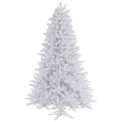 6.5 Foot Crystal White Pine Artificial Christmas Tree Unlit