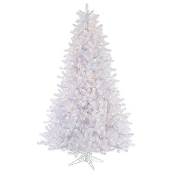 7.5 Foot Crystal White Artificial Christmas Tree 750 DuraLit Clear Lights